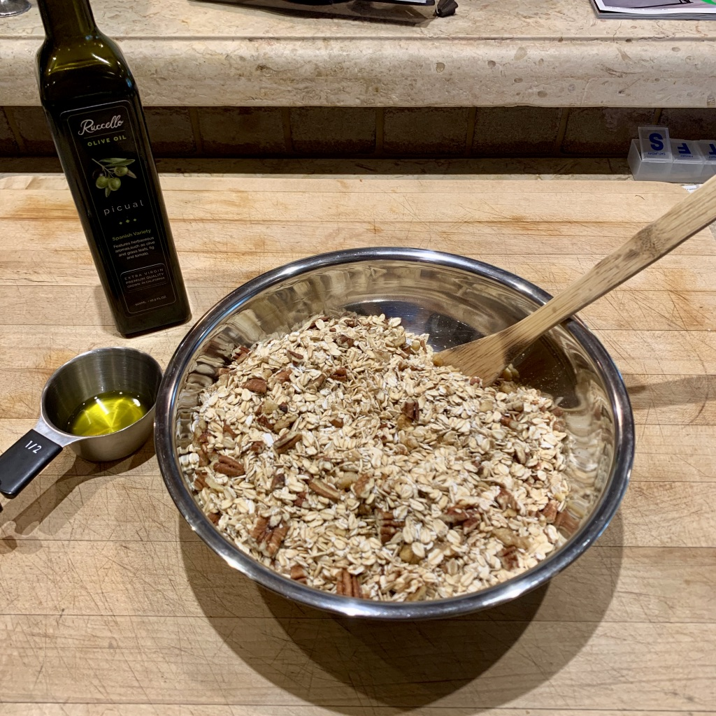 Healthy Granola with Olive Oil